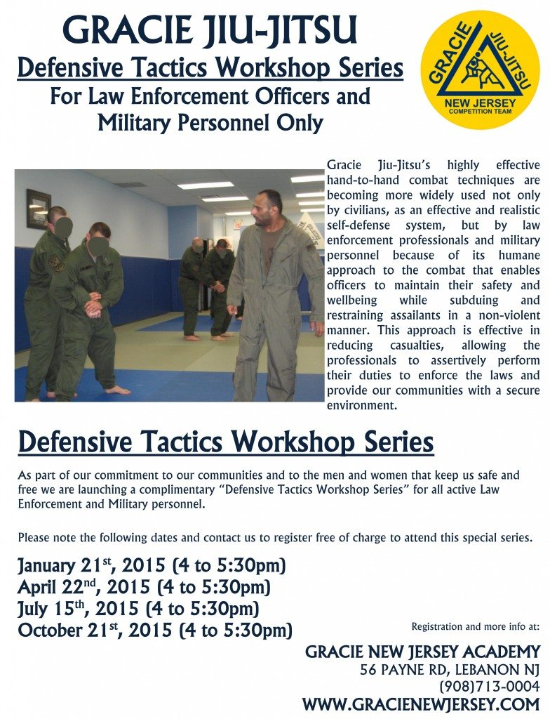 LEO - defensive tactical workshop series - Flier